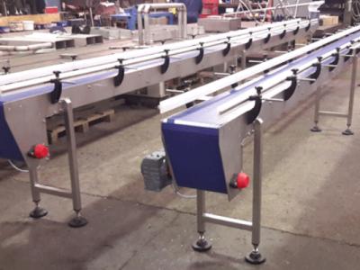 7 Metre long modular belt conveyor