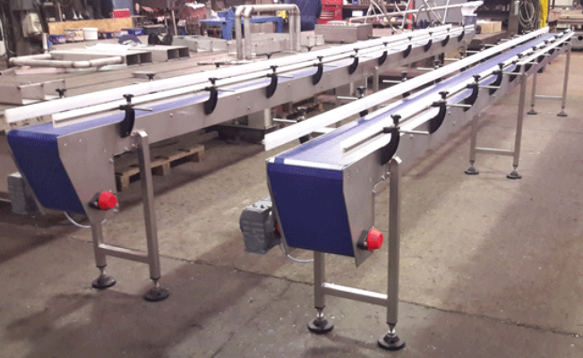 7 Metre long modular belt conveyor