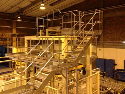 Access Platforms Over a Pallet Wrapper