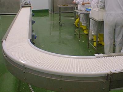 Modular Belt conveyors with bend