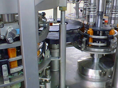 The inner workings of a rotary piston filling machines