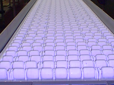 Roller Conveyors with White Rollers